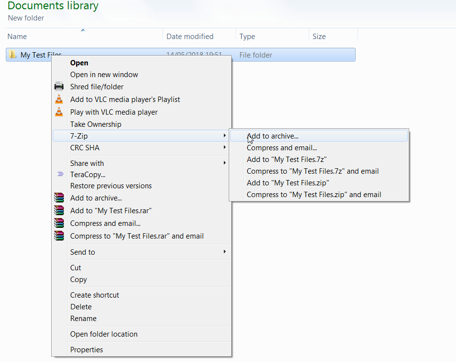 How to Highly Compress Files using 7zip