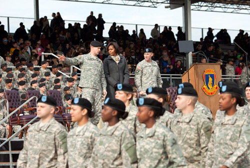 First Lady Visits Fort Jackson Military Base in South