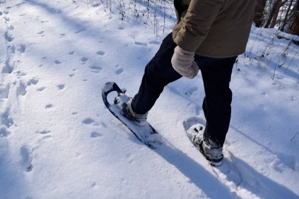 Watch out that you don't step on your own snow shoes!