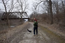 We are about to cross under one of the bridges along Hennepin Canal State Park.