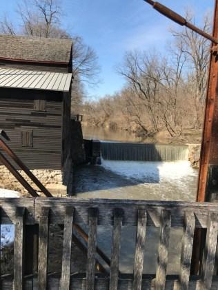 Mill, dam and bridge at Wildcat Den Park