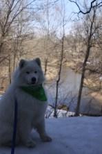 Portrait of Kaia at scenic overlook at Wildcat Den Park