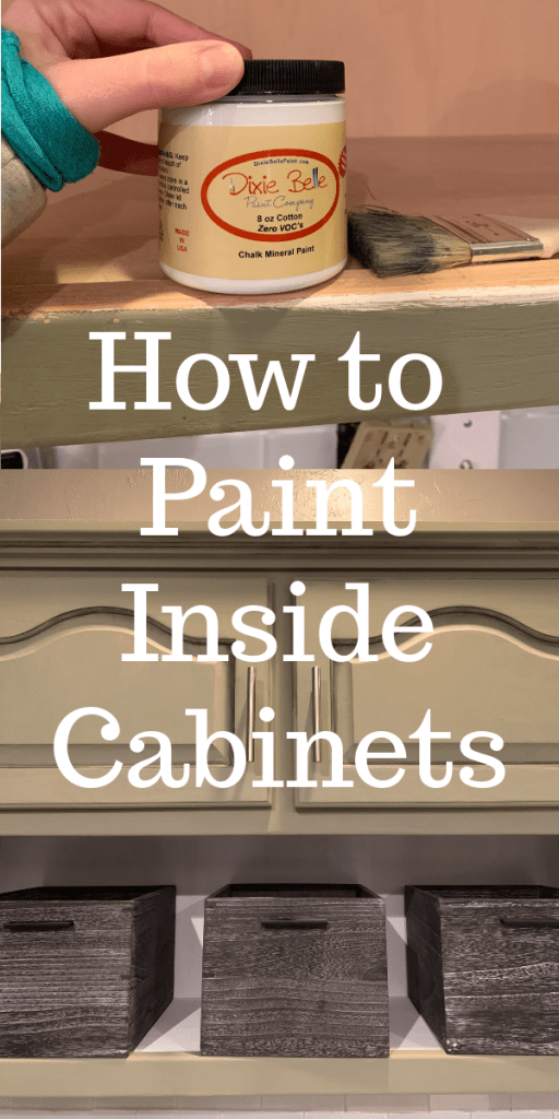 How to Paint Inside Kitchen Cabinets - Let\'s Paint Furniture!
