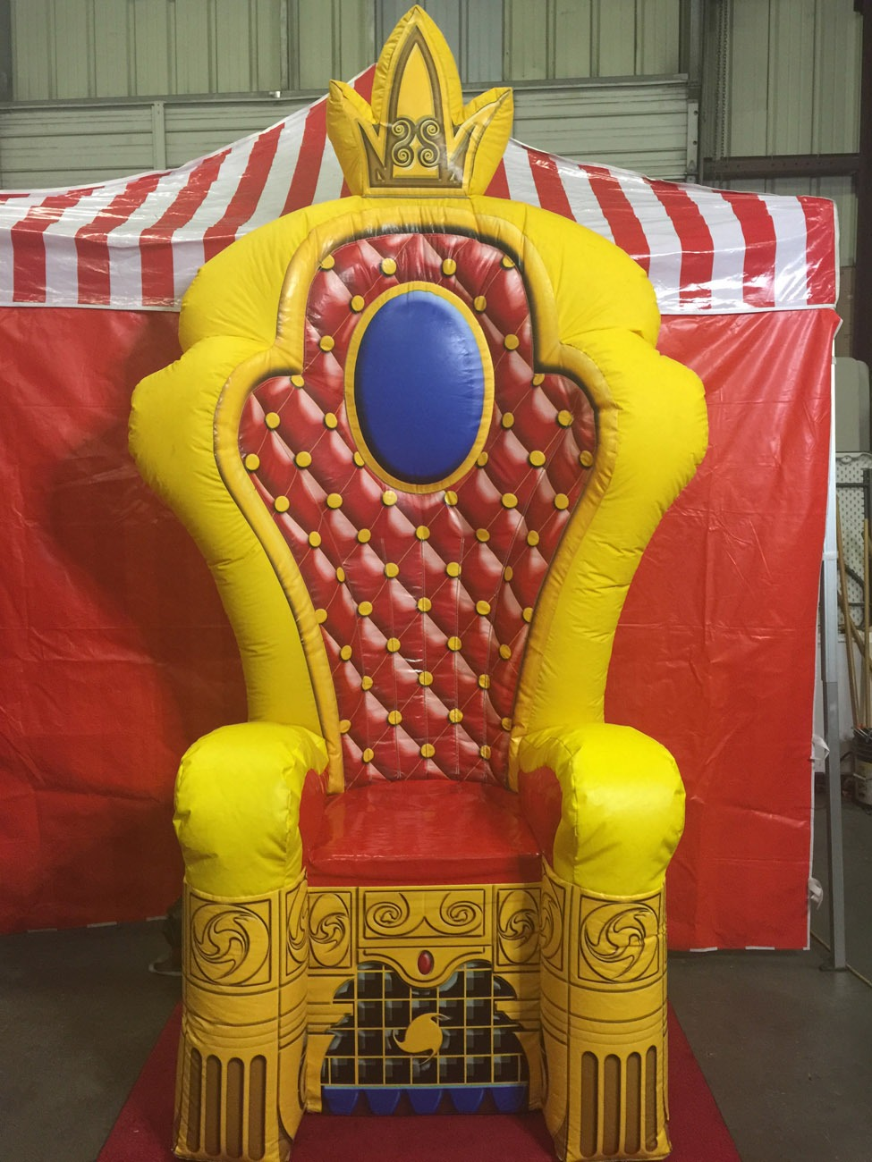 Inflatable Throne Kings Chair  Lets Party