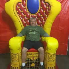 Beach Chair With Wheels Patio Chairs Cushions Inflatable Throne/ Kings - Lets Party