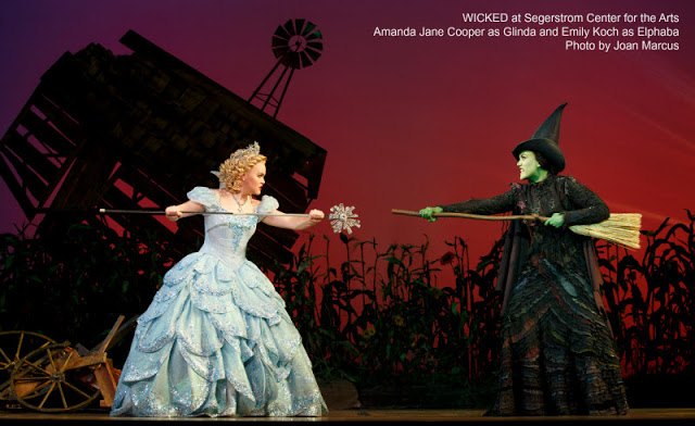 WICKED Musical at Segerstrom Center for the Arts - Amanda Jane Cooper as Glinda and Emily Koch as Elphaba - Photo by Joan Marcus