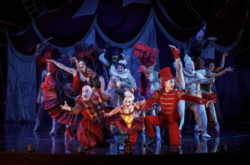 """Segerstrom Center for the Arts - Love Never Dies - """"The Coney Island Waltz"""" featuring Richard Koons, Katrina Kemp, Stephen Petrovich and the Ensemble of Love Never Dies - Photo by Joan Marcus"""