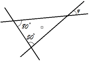 GRADE 7: TRIANGLE & ITS PROPERTIES: EXTERIOR ANGLE THEOREM