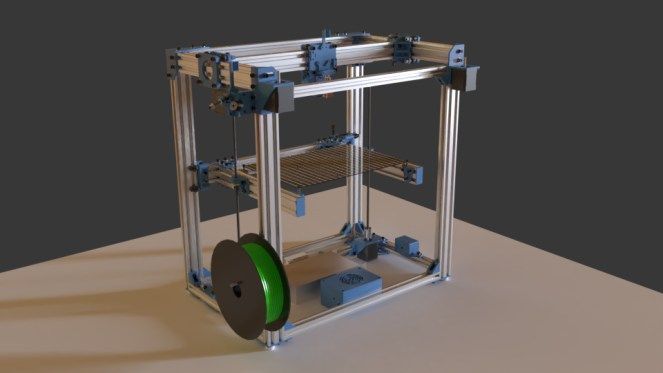 D-Bot 3D Printer Render