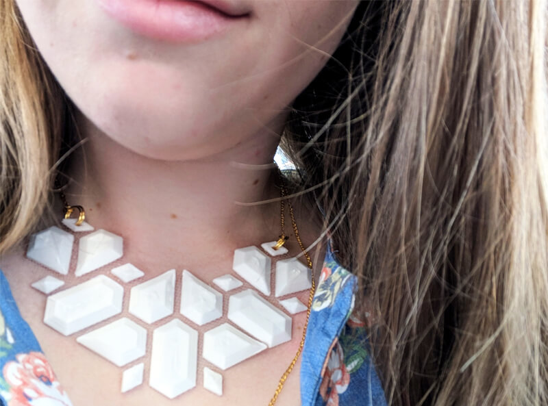 3D Printed Fabric Floating Necklace
