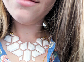 Fabric Floating Necklace
