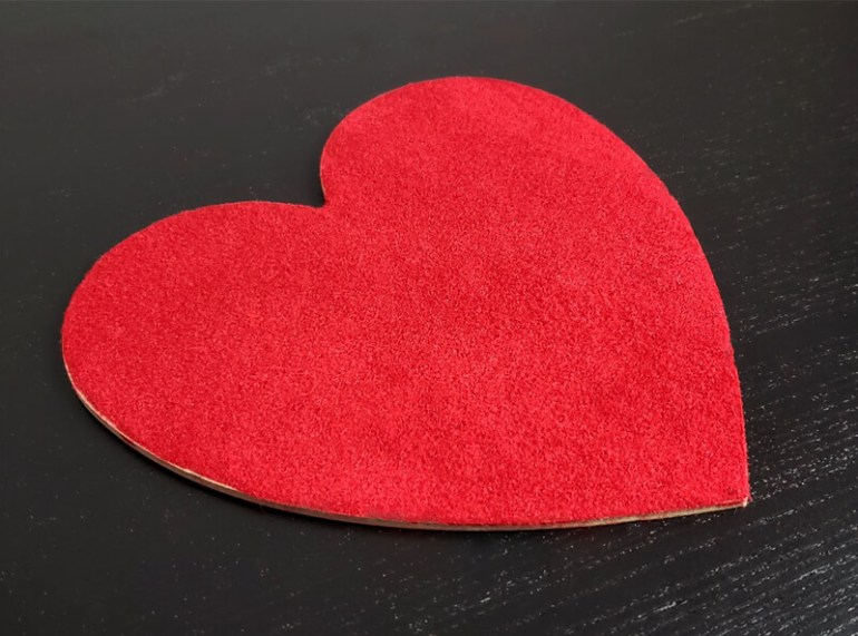 Red Flock on a 3D Printed Heart