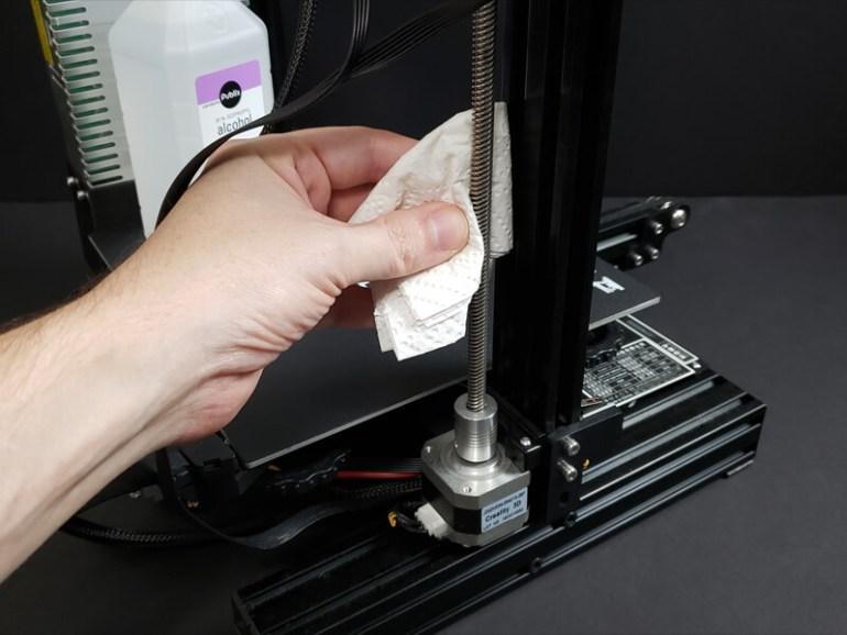 Degrease 3D Printer Lead Screw