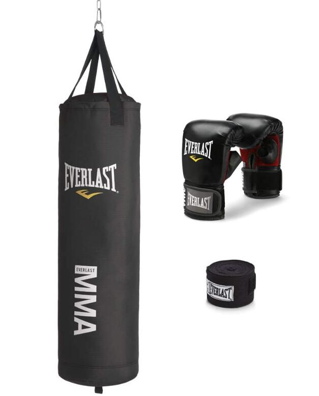 Hand Stitched ULTRA FITNESS Authentic REAL Leather Speed Ball Boxing Punch Bag MMA Speed Bag