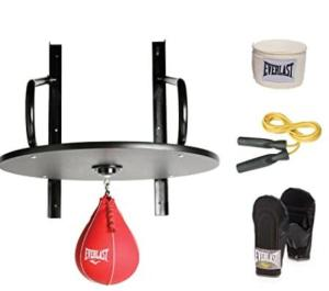 Everlast speed bag kit with platform and gloves and wraps