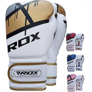 RDX leather gloves for muay thai