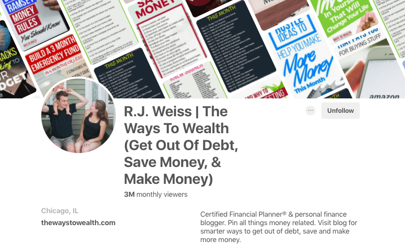 the ways to wealth pinterest 3 million monthly views