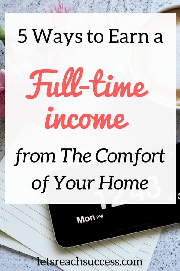 Working from home isn't for everyone. Some people find they need the structure of a workplace and the motivation of having their boss around for them to be productive. However, for others, it's the dream. Here are some ideas on how to make a full-time income from home: #workfromhome #selfemployed #blogging #startabusiness