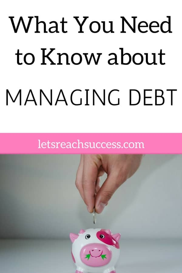 Do you have a hard time paying off debt? Maybe you're already wishing for a debt-free life? Continue reading to learn what you should know about managing debt and start moving towards an easier-to-manage future. #debtfree #moneymanagement