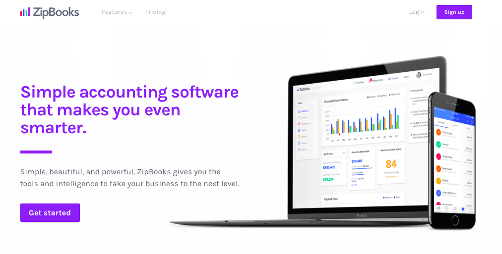 zipbooks startup accounting software