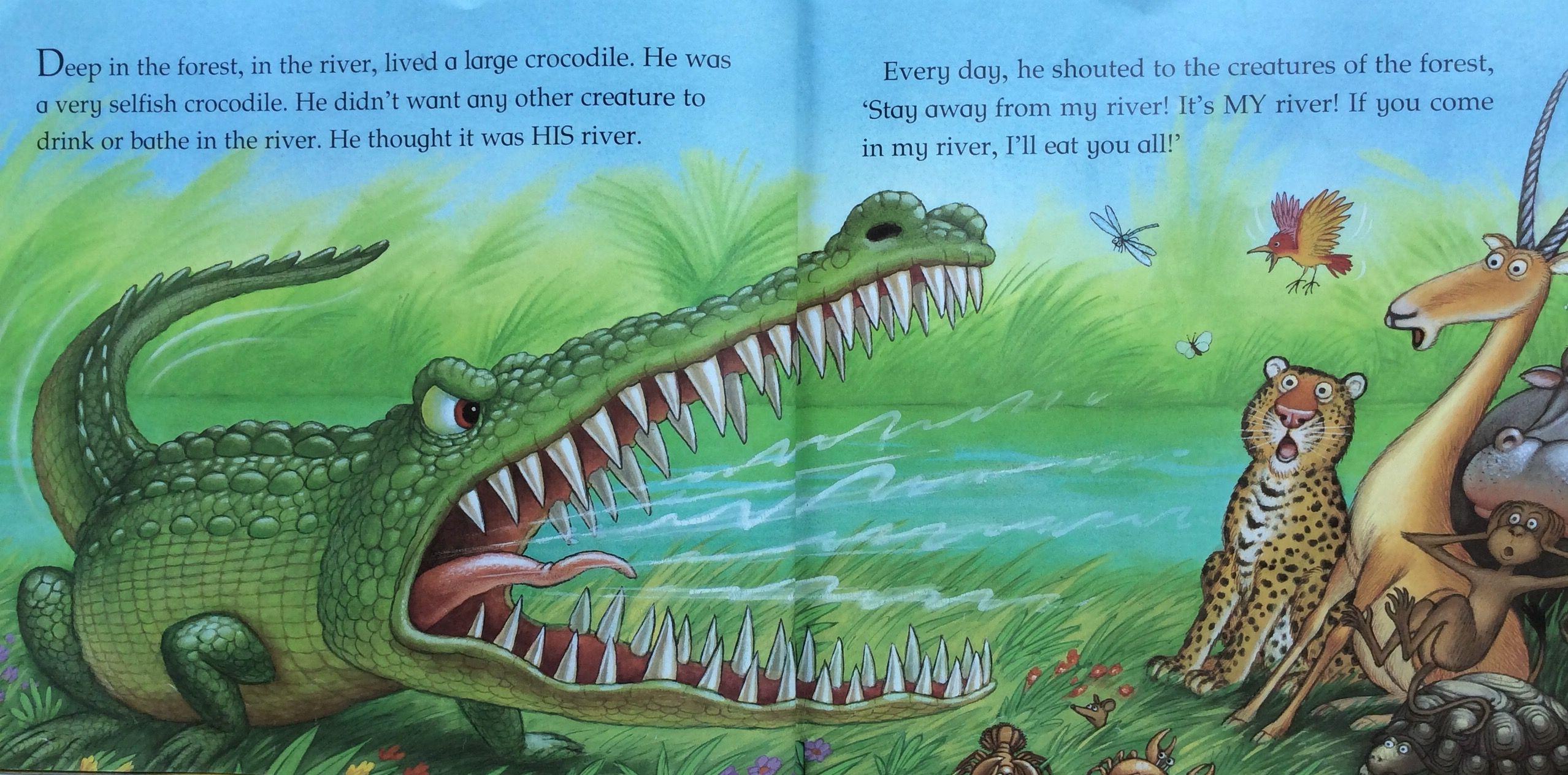 The Selfish Crocodile Faustin Charles Ilustracje