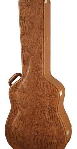 Stone Case Co. Deluxe Alligator Guitar Case With Hygrometer Dreadnought Style ST-DAG