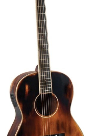 Morgan Monroe® Time Worn Electric/Acoustic Guitar with Soft Case & Humidifier