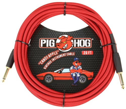 """Pig Hog """"Candy Apple Red"""" Cables"""