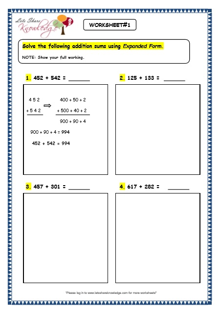 Expanded Form Addition And Subtraction Worksheets  Decimals In Standard Expanded And Word Form
