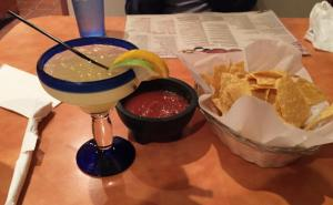 Margarita and nachos