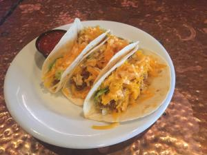 close up of The Library's tacos