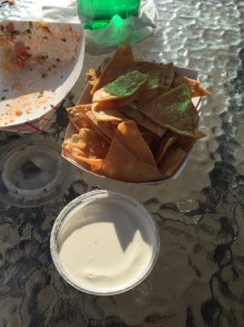Homemade chips and queso at Edgar's Best Tacos Pittsburgh