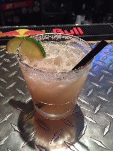 Margarita with tacos at Over the Bar