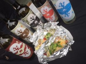Tacos with wine