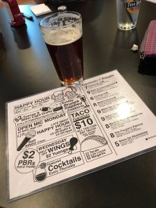 Pints on penn menu