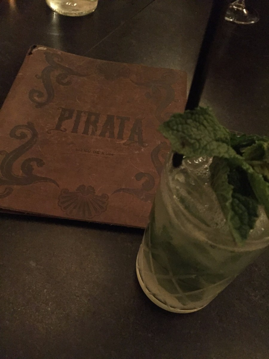 mojito and menu