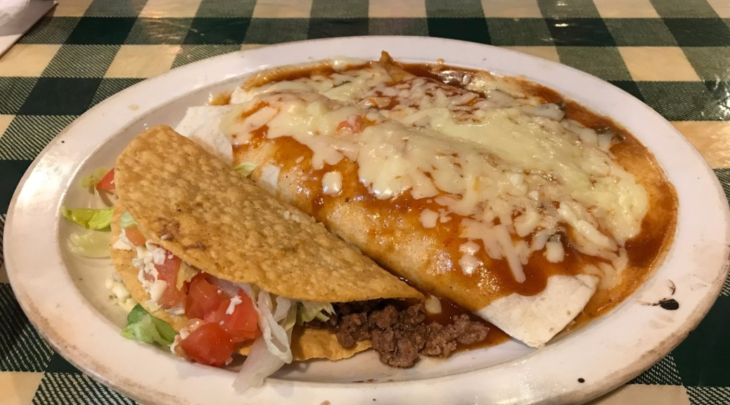 Mexican Plate with Taco at Old Mexico