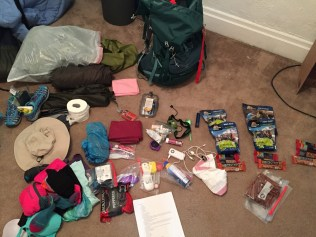 backpack supplies