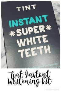 TINT Instant white teeth