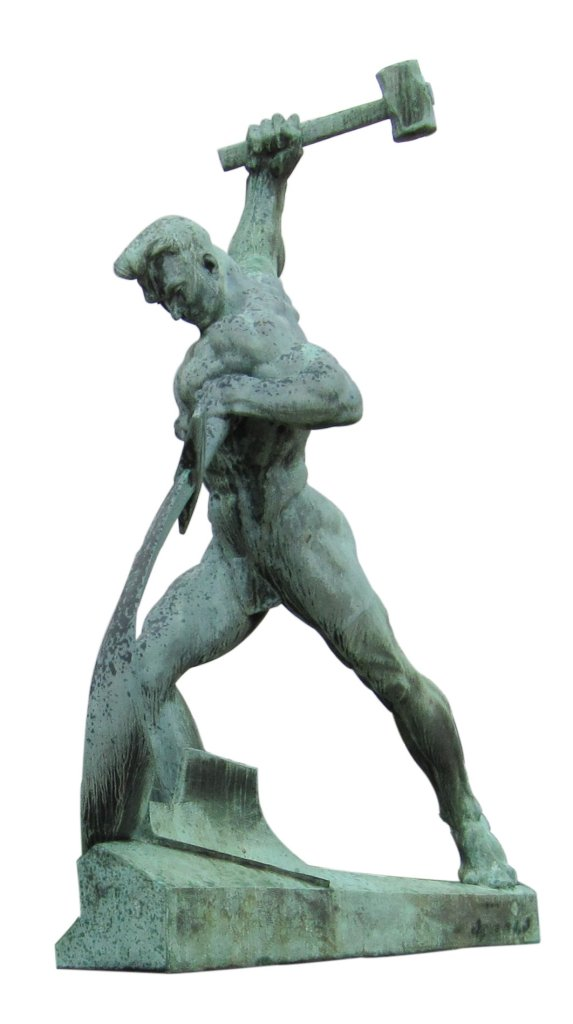 sculpture by Evgeniy Vuchetich in the United Nations Art Collection