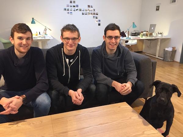 Gründer-Team von Apoly: Luca, Pascal und Christian (v.l.n.r.)