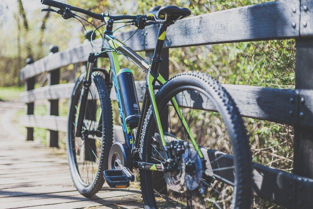 So sieht ein Mountainbike mit Pendix Erweiterung aus. Bild: Pendix