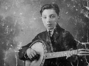 young Django Reinhardt banjo