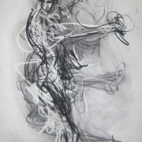 Plansky Dancer #28 37x23 charcoal on paper