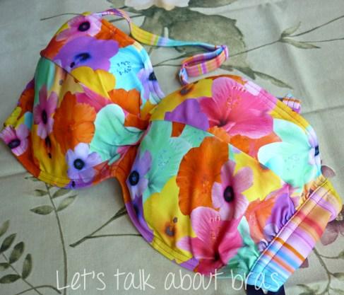 Midnight Grace Jasmine Underwire Twist Bandeau Bikini Top, front