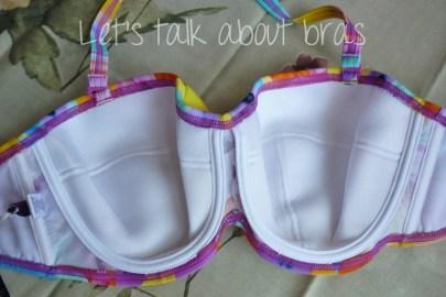 Midnight Grace Jasmine Underwire Twist Bandeau Bikini Top, interior