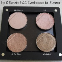 Naked Lunch, Jest, All That Glitters and Woodwinked M·A·C eyeshadows