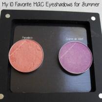 Paradisco and Crème de Violet M·A·C eyeshadows