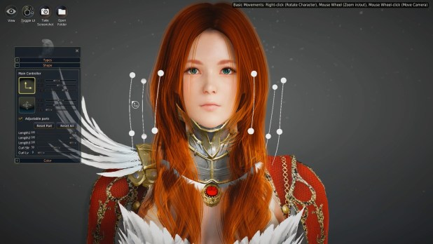 The Black Desert Online character creation tool allows you to customise everything from hair to eyes