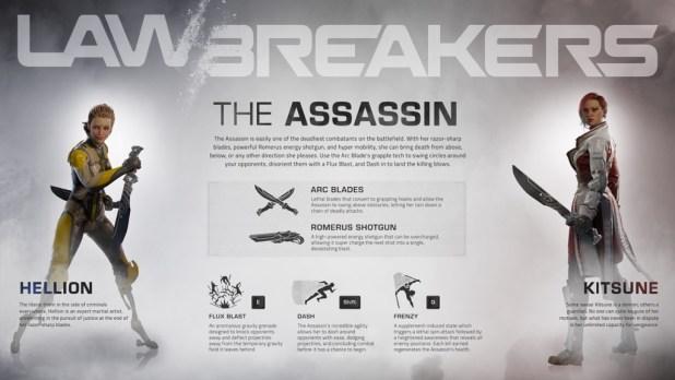 LawBreakers - Assassin - Infographic